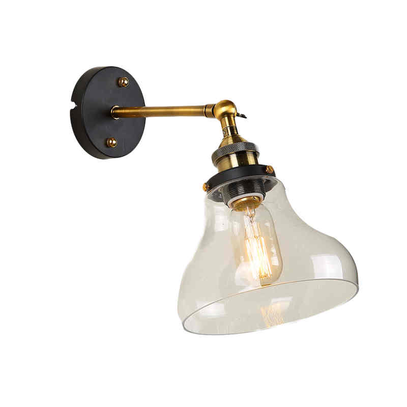 ФОТО E27 Edison Wall lamps Loft Vintage Industrial Clear Glass Wall Sconce Warehouse Wall Light Fixtures 110V 220V Wall Garden Light