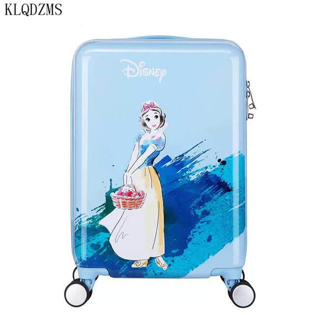 KLQDZMS 20 inches children cartoon ABS+PC rolling luggage trolley suitcase cute snow white travel bag for girls 1