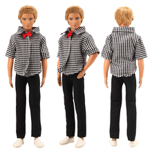 High Quality Handmade Cool Handsome Clothes Wear Pants Trousers Doll Accessories For Ken Dolls Best Gift Present Boy Toy