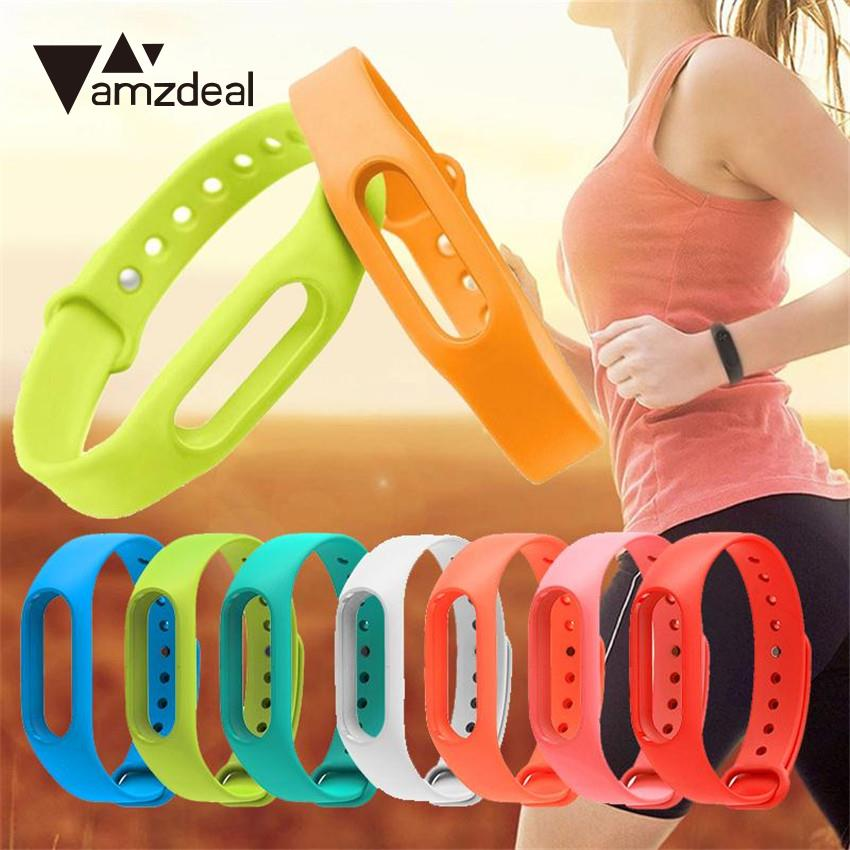 amzdeal Smart Watch Watchband Wristband TPU Metal Buckle Strap Bracelet Replacemet Parts for Xiaomi Miband Mi Band 2