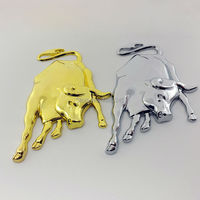 2016 Car Styling Covers 3D Metal Bull Ox Emblem Badge Decal Sticker For Lamborghini Motorcycle Stickers