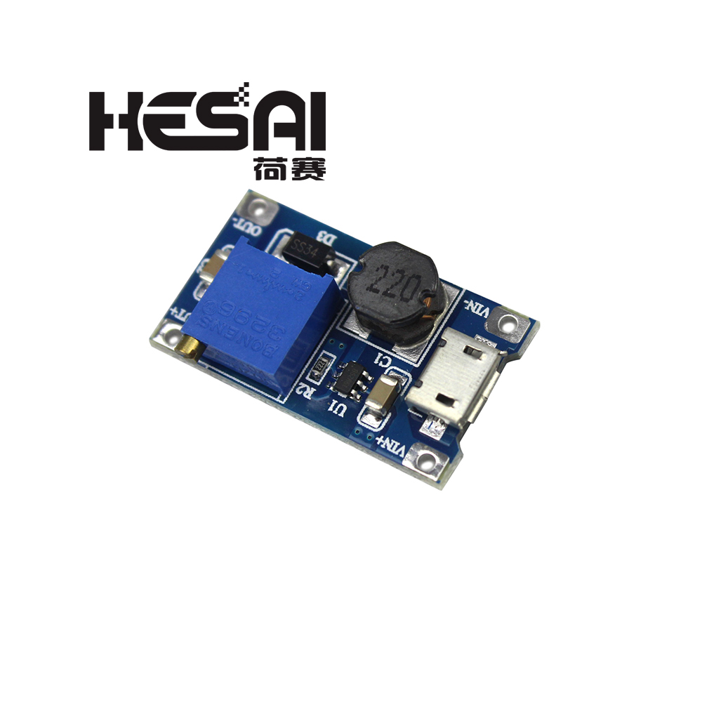 DC-DC Adjustable Boost Module 2A Boost Plate 2A Step Up Module With MICRO USB 2V - 24V To 5V 9V 12V 28V MT3608 LM2577
