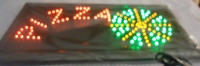 2017 hot sale customed 10x19 inch semi outdoor Pizzas store Ultra Bright flashing led sign