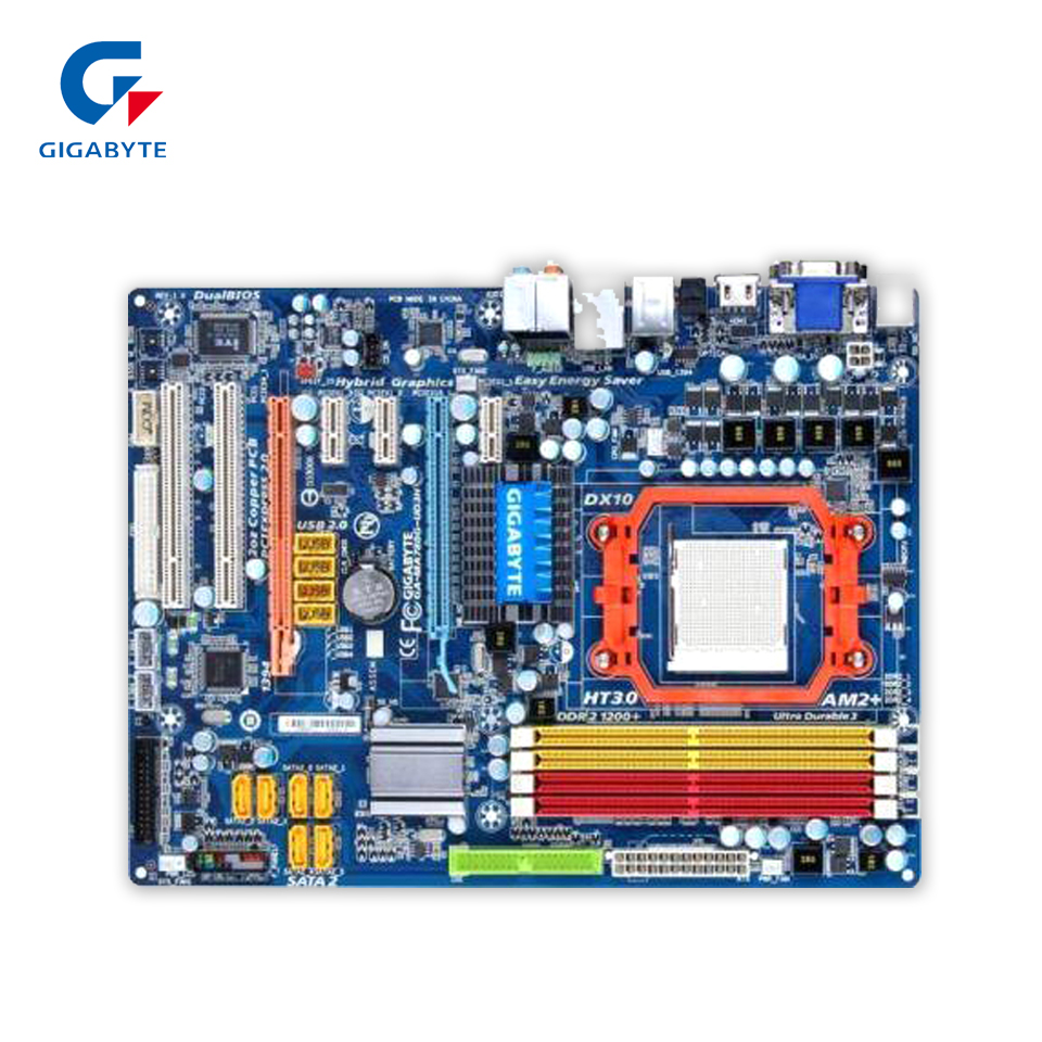 Gigabyte GA-MA780G-UD3H Desktop Motherboard 780G Socket AM2 DDR2 SATA2 USB2.0 ATX for gigabyte ga ma78g ds3hp original used desktop motherboard for amd 780g socket am2 for ddr2 sata2 usb2 0 atx