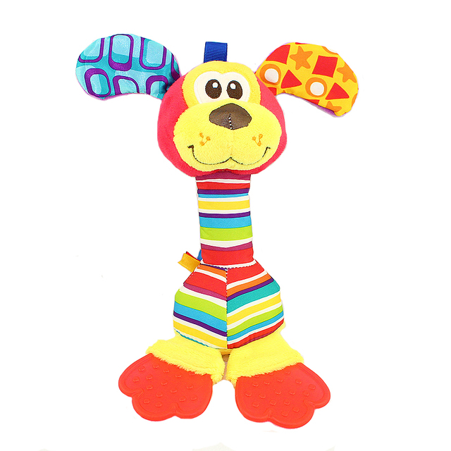22Cm Rattles Baby Plush Toy With Teether 0-12 Months