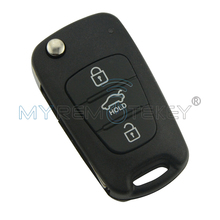Flip remote key with 46chip 3 button TOY48 434Mhz for Hyundai I20 floding car