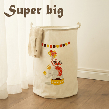 Laundry Toys Storage Box Basket Stand Super Large Bag Cotton Washing Dirty Clothes Picnic Big Organizer Bin Handle 2