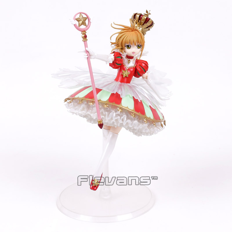 Аниме Card Captor Sakura Kinomoto Сакура 15th Юбилей 1/7 Весы Окрашенные рис Коллекционная модель игрушки