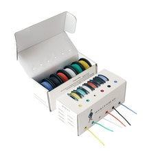 Boîte de fil électronique torsadé en Silicone, 42 m/boîte, 24 AWG, UL3132, fil électrique Flexible, isolé en caoutchouc, cuivre étamé, 300V, 6 couleurs
