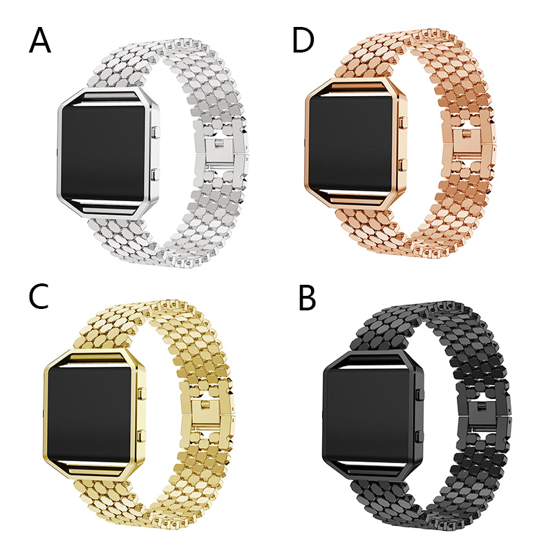 Watchband For Blaze With Crystal Look Luxury Alloy Replacement Smartwatch Adjustable Wrist Strap 183mmx23mm