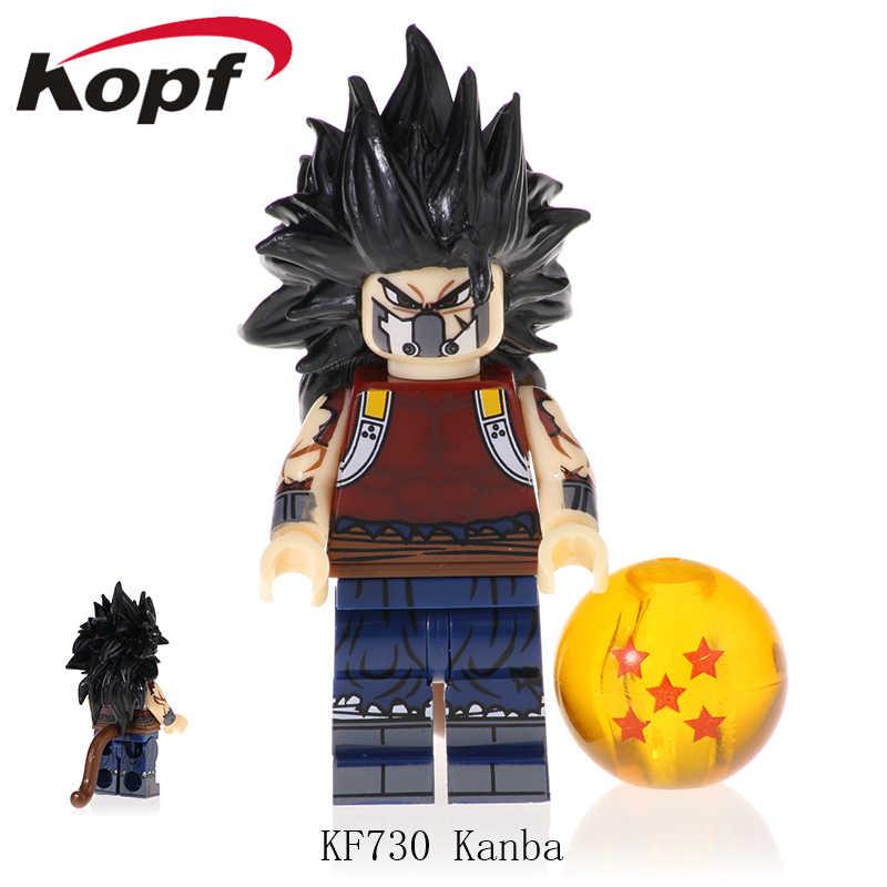 Bloques de construcción Dragon Ball Z ladrillos Son Goku Vegeta vegetal Mira Son Gohan Kanba figuras colección juguetes para niños KF726
