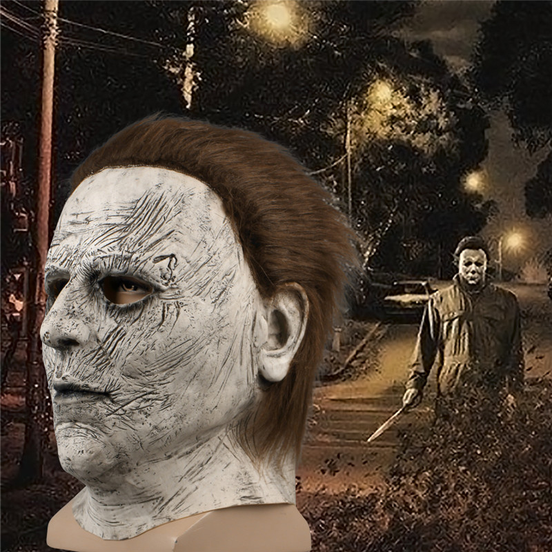 2018 Halloween Mask Horror Michael Myers Mask Scary Movie Halloween Party Cosplay Latex Party Face Mask Scary Film Mask Toy