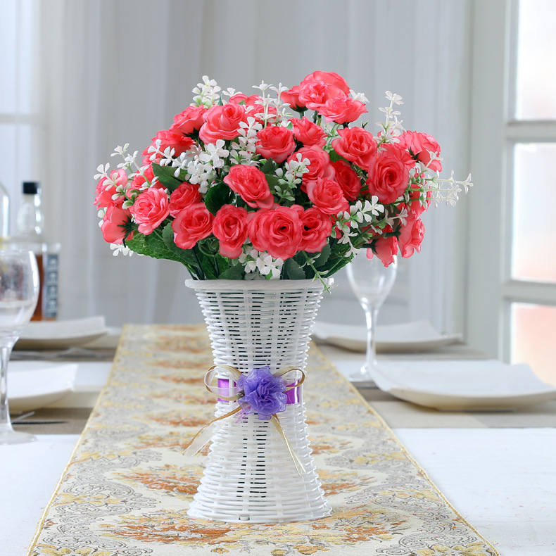 Plastic Flower Arrangement Pot  Washable Health  Environmental Protection Ribbon Home Decoration Office Desktop Small Ornaments