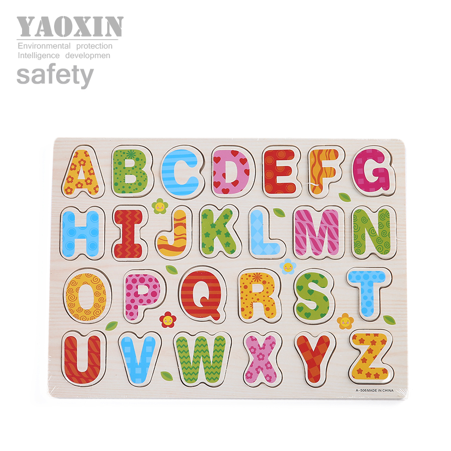 Hot toys baby toys wooden puzzle for children educational for Baby letter table for sale