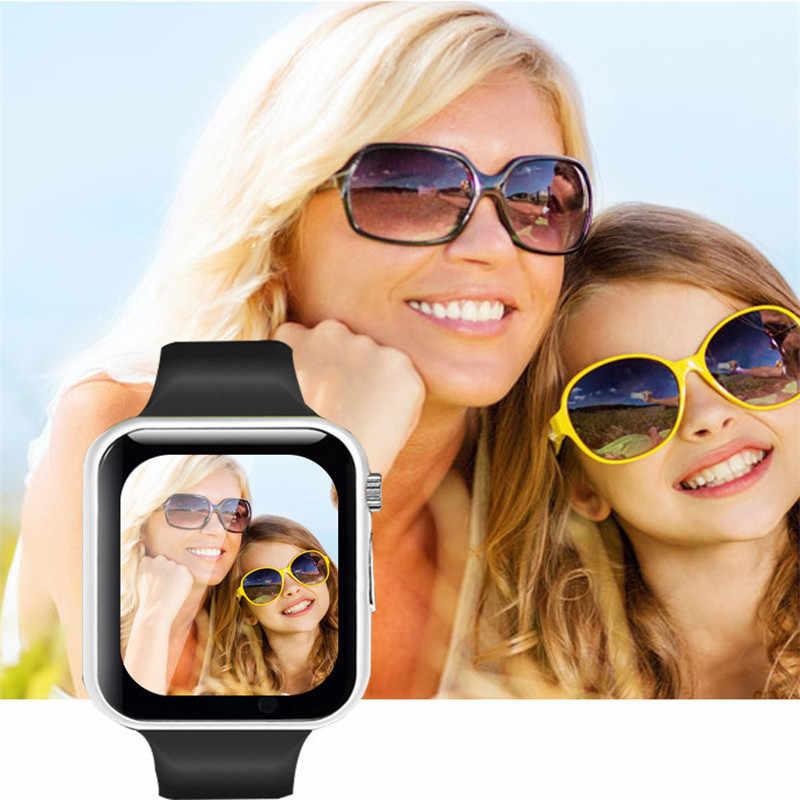 Relógio de pulso bluetooth relógio inteligente masculino mulher esporte pedômetro com câmera sim smartwatch para android huawei apple samsung relógio