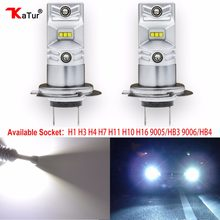 2pcs H1 H3 H4 H7 H8/H11 H10 5202 9005/HB3 9006/HB4 Led Bulbs Auto Fog Lights CSP Chip Driving Running Driving Light 6500K White(China)