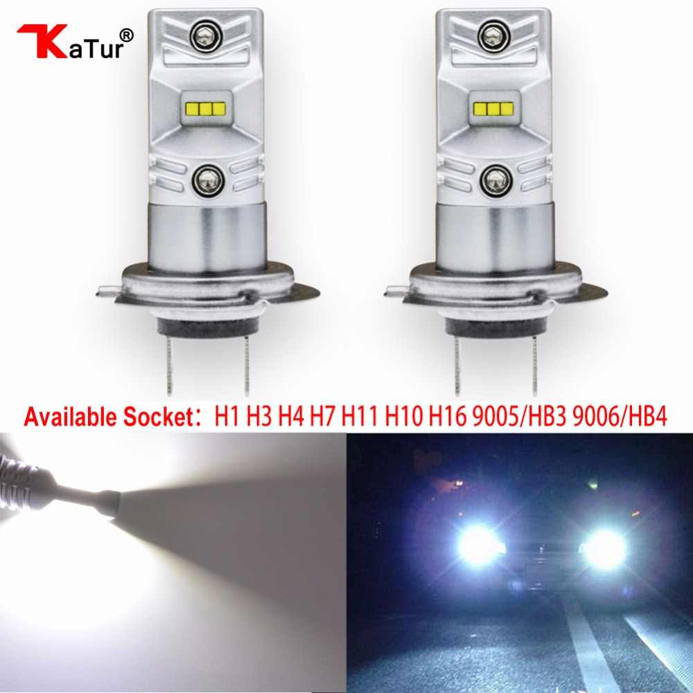 2pcs H1 H3 H4 H7 H8/H11 H10 5202 9005/HB3 9006/HB4 Led Bulbs Auto Fog Lights CSP Chip Driving Running Driving Light 6500K White