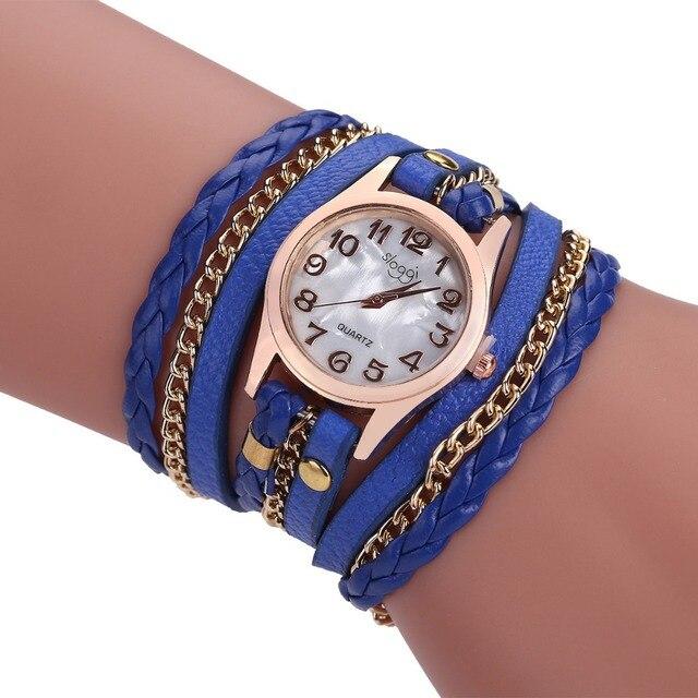 0239990d28ded Best Sale Fashion Women Leather Bracelet Vintage Weave Wrap Quartz PU  Leather Wrist Watches lady watch Dropshipping. Rated 5.0 5 ...