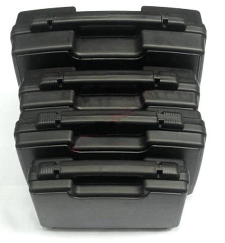 Plastic gereedschapskoffer koffer gereedschapskist Slagvaste waterdichte veiligheidskoffer apparatuur cameratas met voorgesneden schuim gratis verzending