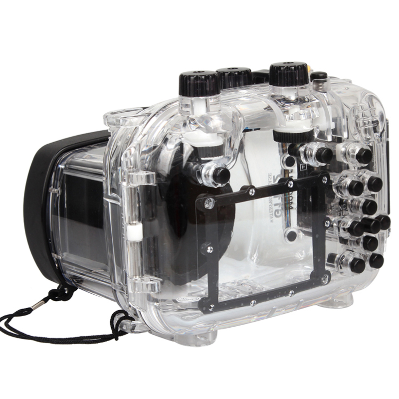 Ready Stock ! Meikon Waterproof Underwater Housing Camera Diving  Case for Canon Power shot G11/12 Lens  WP-DC34