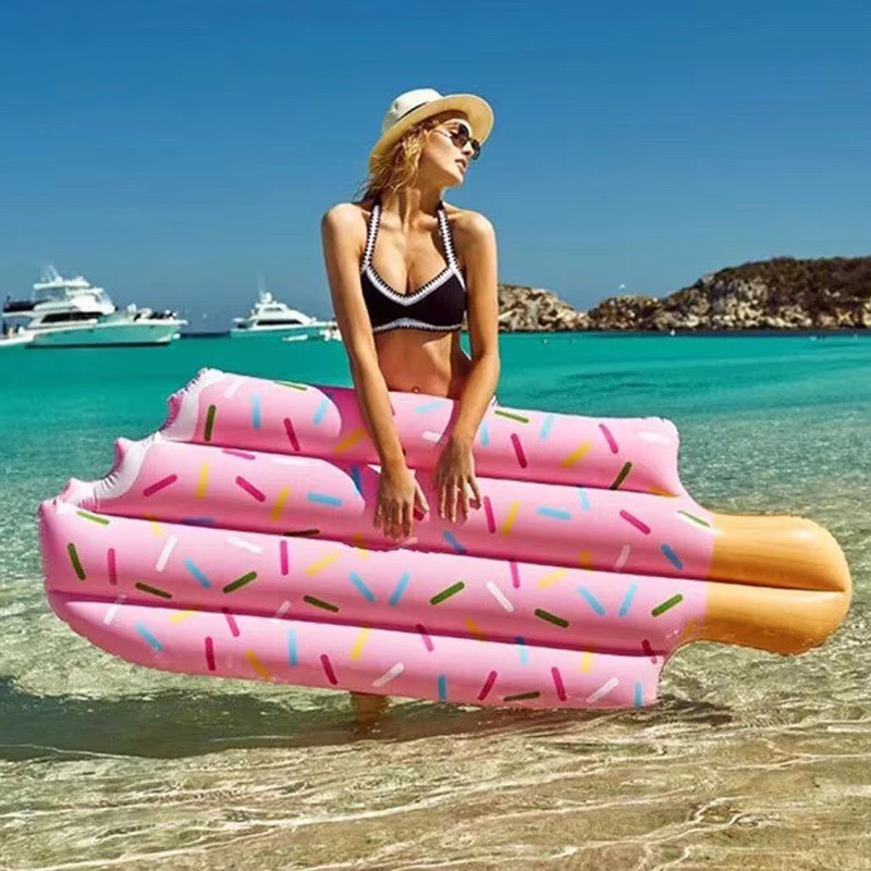 Hot Ice Cream Giant Pool Float Inflatable Air Mattresses Swim Rings 70 Inchs Giant Water Toys Adult Party Toy Boia Piscina