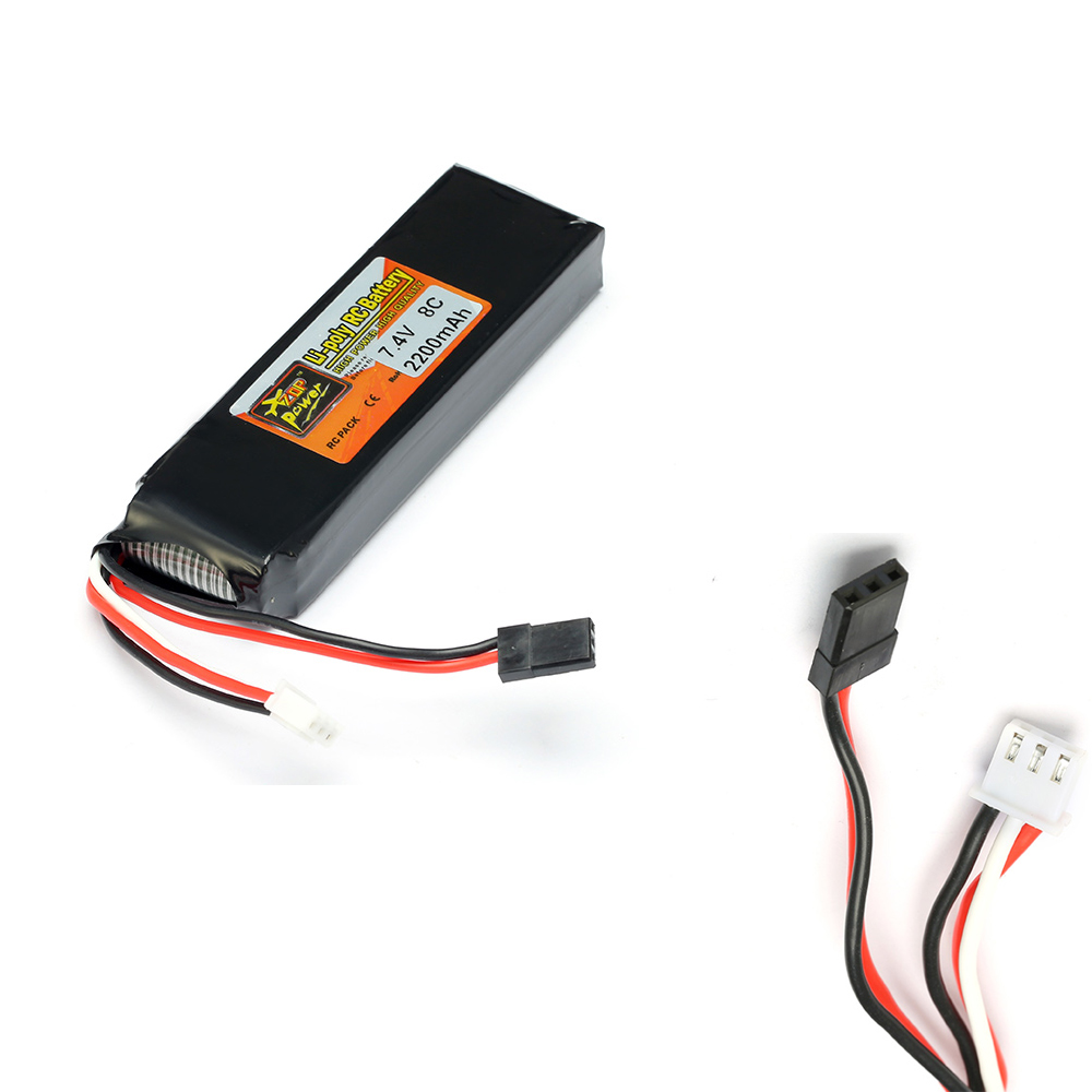 1pcs ZOP Power <font><b>Lipo</b></font> Battery 7.4V <font><b>2200mAh</b></font> 8C Li-Po Battery For DEVO 4/ 7E / <font><b>6S</b></font> / 8S Transmitter Li-poly RC Battery image