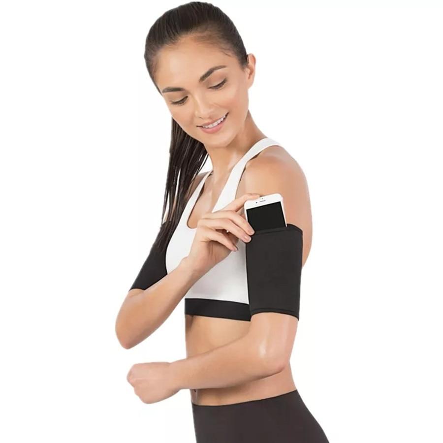 1 Pair Arm Warmers Sauna Sweat Sports Fitness Womens Slimming Arm Sleeve Control Shapers Running Sleeve Slimmer Trimmer Neoprene
