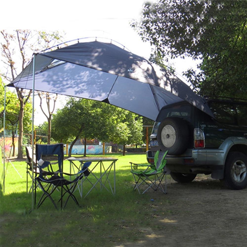 5-8 personnes toit tente Anti-UV extérieur pliant voiture abri Camping tente étanche voiture auvent tente jardin pique-nique abri soleil