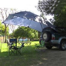 Палатка на крышу для 5 8 человек с защитой от УФ лучей, Складной автомобильный тент для кемпинга, Круглый автомобильный тент, садовый солнцезащитный тент для пикника