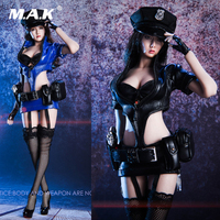 18XG16 1/6 Scale Sexy Female Policewoman Uniform Cosplay Suit Clothes Set & Shoes Accessory Model for 12'' Action Figure
