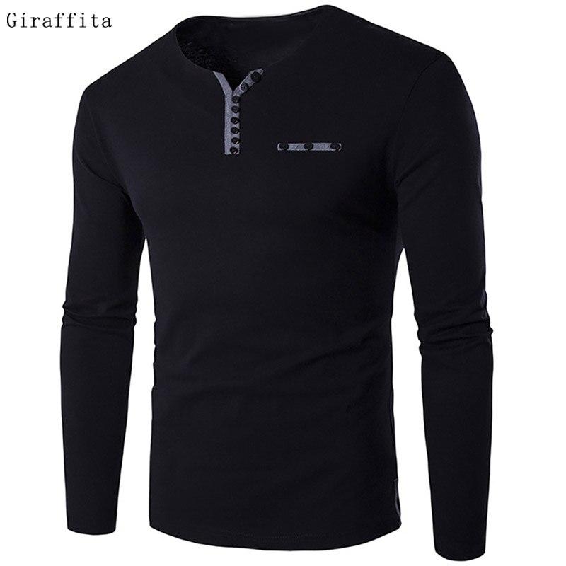 2017 Autumn Fashion Slim Fit Long Sleeve T font b Shirt b font font b Men