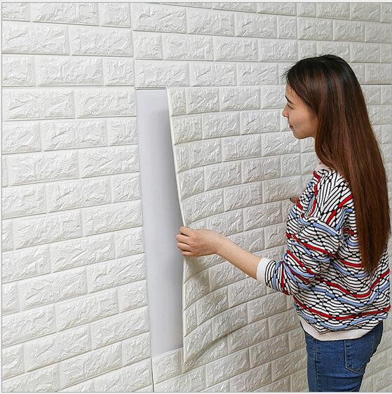 70 X 15cm Living Room Waterproof Brick Texture Wall Sticker/Tile Wallpaper Stickers/Self Adhesive Home Baseboard Decor Sticker