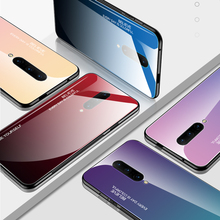 Case for oneplus 7 pro 6T Luxury Fashion Gradient Tempered Glass For Asus ZB601KL ZB602KL ZB631KL ZB633KL Anti-fall Cover Shell