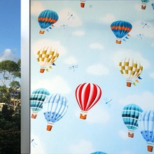 Cartton balloon window Film PVC Stained Frosted glass stickers kids room Home foil Decor toning Decorative films 45/60cm*200cm
