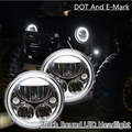 """Free Shipping 1 Pcs 7"""" Round Vortex LED Headlight with Low-High Halo For Harley David  Motorcycle wrangler JK TJ  7 Inch"""
