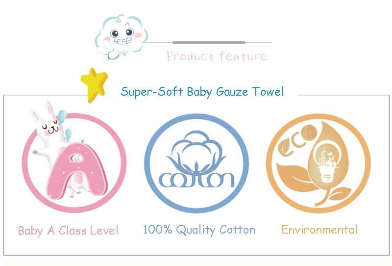 Square Cotton Cartoon Baby Bath (4-1)