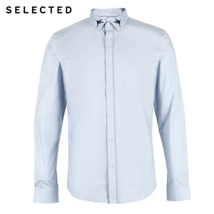 Image 5 - SELECTED Mens Hummingbird Embroidery Slim Fit Long sleeved Shirt S