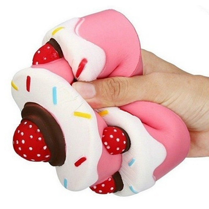 2018 New Antistress Squishy Cake Cute Scented Slow Rising Stress Relief Skvishi Toys Children Adult Jumbo Abreact Squeeze Toy ...