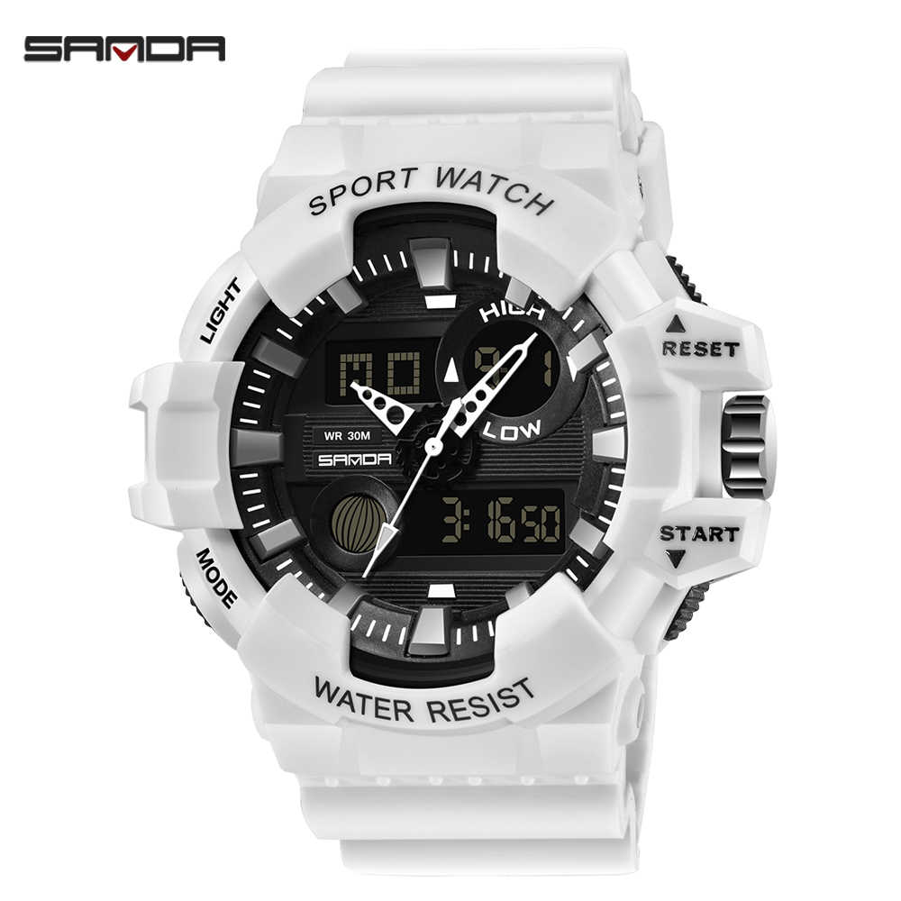 SANDA 2019 New Sport Watch Men LED Digital Wristwatch for Women Fashion G Style Watches Waterproof Men's Clock relogio masculino