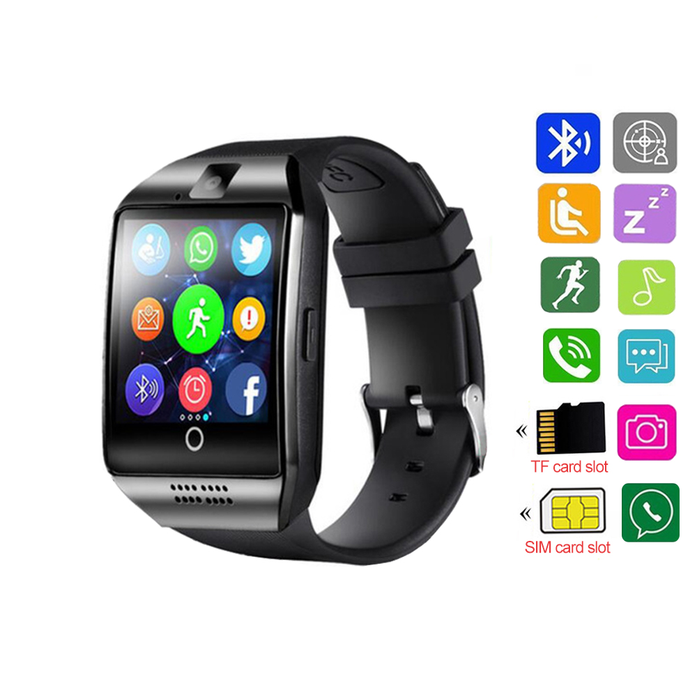 Smart Watch Men Bluetooth Smartwatch With Camera Clock Watches Support SIM TF Card For IOS Android Phone Reloj Watchsmart PK V8 умные часы smart watch y1