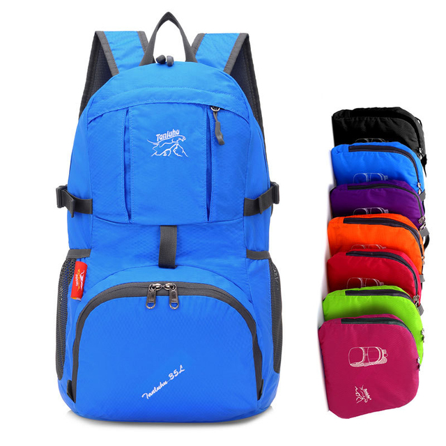2258333393 35L Foldable Backpacks For Travel Packable Daypack For Hiking Camping Sports  Lightweight Shoulder Bag Men Women