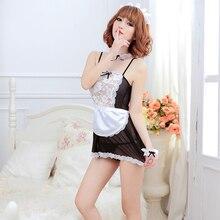 Atacado Sexy Lingerie Black White Avental Francês Maid Servo Lolita Costume Dress Uniform