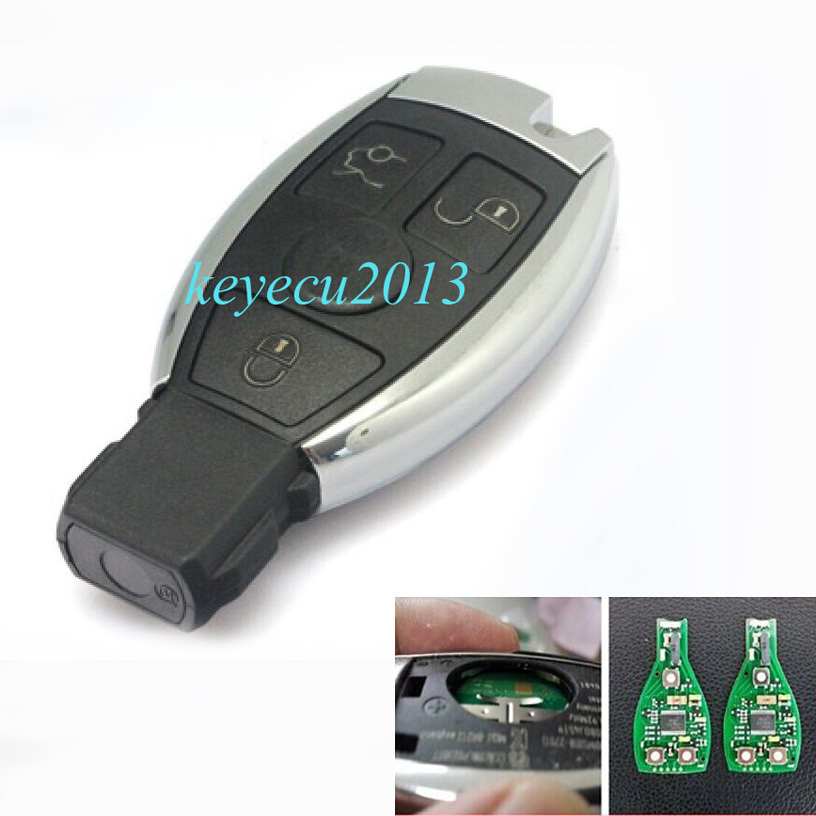 KEYECU High Quality Keyless Entry Smart 3 Button Remote key With Infrared for Mercedes Benz ...