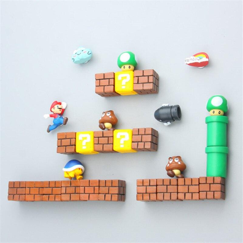 ZOCDOU 1 Piece Super Super Mario DIY Fridge Refrigerator Magnet TV FC Game Japan Gaming Cartoon 3D Ice Box Paster Icebox Sticker|Fridge Magnets|   - AliExpress
