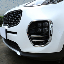 For KIA KX5 Sportage 2016 2017 ABS Chrome Front Fog Light Cover Trim Bezel Garnish Lamp Foglight Bumper car styling Accessories chrome car styling front fog lamp cover light overlay foglight trim panel 2014 2015 2016 for jeep grand cherokee accessories