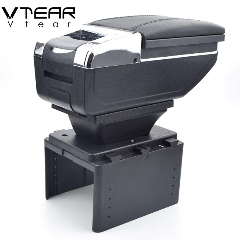 Vtear Pour Renault logan 2/Megane/twingo boîte accoudoir central boîte de contenu de Magasin produits intérieur Accoudoir De Stockage accessoires partie