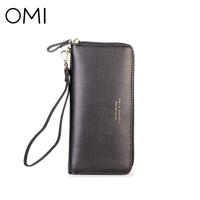 OMI Women S Wallet Women S Clutch Female S Purse Ladies Long Wallet Genuine Leather Purse