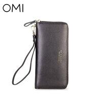 OMI Women S Wallet Women S Clutch Female S Purse Ladies Long Wallet Genuine Leather Purse