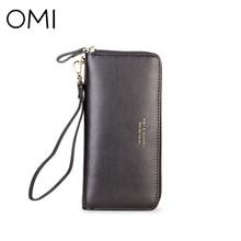 OMI Для женщин кошелек Для женщин клатч женский кошелек Дамский кошелек натуральная кожа кошелек известный дизайнер бренда класса люкс Клатчи