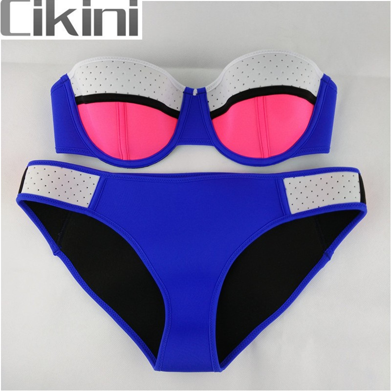 Neoprene Swimwear Women Bikini Woman Biquini New Summer 2018 Sexy Swimsuit Bath Suit Push Up Bikini set Bathsuit TA09 Cikini neoprene swimwear women bikini woman new summer 2017 sexy swimsuit bath suit push up bikini set bathsuit ta008y